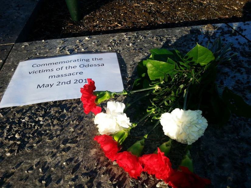 Muistotilaisuus Odessan 2.5.2014 verilöylynuhreille