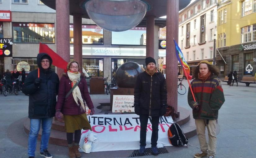 18.3.2016: Muistotilaisuus Ankaran terrori-iskun ja Turkin valtioterrorinuhreille